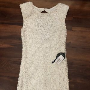 ⭐️NWT White Sequin Mini Dress